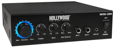 "HiFi-Verstärker HOLLYWOOD ""Mini-200"" 100W, Bluetooth"